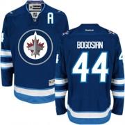 Winnipeg Jets #44 Men's Zach Bogosian Reebok Authentic Navy Blue Home Jersey
