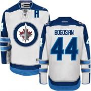 Winnipeg Jets #44 Men's Zach Bogosian Reebok Authentic White Away Jersey