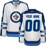 Reebok Winnipeg Jets Men's Customized Authentic White Away Jersey