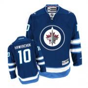 Winnipeg Jets #10 Men's Dale Hawerchuk Reebok Authentic Navy Blue Home Jersey