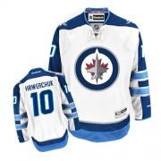 Winnipeg Jets #10 Men's Dale Hawerchuk Reebok Authentic White Away Jersey