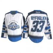 Winnipeg Jets #33 Men's Dustin Byfuglien Reebok Authentic White St. John's IceCaps Jersey