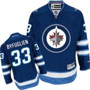 Winnipeg Jets #33 Men's Dustin Byfuglien Reebok Premier Navy Blue Home Jersey