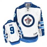 Winnipeg Jets #9 Men's Evander Kane Reebok Authentic White Away Jersey