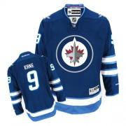 Winnipeg Jets #9 Men's Evander Kane Reebok Premier Navy Blue Home Jersey