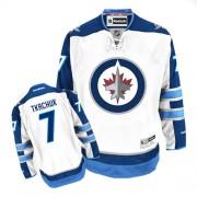 Winnipeg Jets #7 Men's Keith Tkachuk Reebok Authentic White Away Jersey