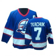 Winnipeg Jets #7 Men's Keith Tkachuk CCM Authentic Blue Throwback Jersey