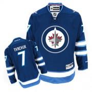 Winnipeg Jets #7 Men's Keith Tkachuk Reebok Authentic Navy Blue Home Jersey