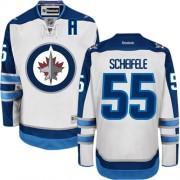 Winnipeg Jets #55 Men's Mark Scheifele Reebok Authentic White Away Jersey