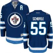 Winnipeg Jets #55 Men's Mark Scheifele Reebok Premier Navy Blue Home Jersey