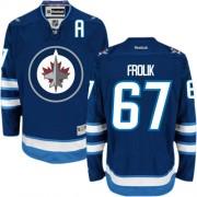Winnipeg Jets #67 Men's Michael Frolik Reebok Authentic Navy Blue Home Jersey