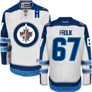 Winnipeg Jets #67 Men's Michael Frolik Reebok Premier White Away Jersey