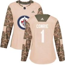 Winnipeg Jets Women's Eric Comrie Adidas Authentic Camo Veterans Day Practice Jersey