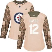 Winnipeg Jets Women's Kevin Hayes Adidas Authentic Camo Veterans Day Practice Jersey