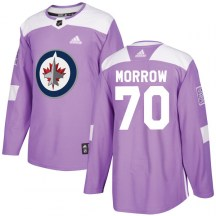 Winnipeg Jets Men's Joe Morrow Adidas Authentic Purple Fights Cancer Practice Jersey