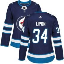 Winnipeg Jets Women's J.C. Lipon Adidas Authentic Navy Home Jersey