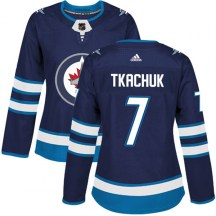 Winnipeg Jets Women's Keith Tkachuk Adidas Authentic Navy Home Jersey