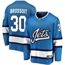 Winnipeg Jets Men's Laurent Brossoit Fanatics Branded Breakaway Blue Alternate Jersey
