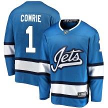Winnipeg Jets Men's Eric Comrie Fanatics Branded Breakaway Blue Alternate Jersey