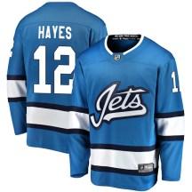Winnipeg Jets Men's Kevin Hayes Fanatics Branded Breakaway Blue Alternate Jersey