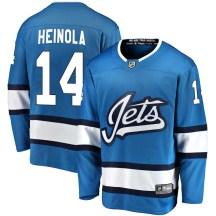 Winnipeg Jets Men's Ville Heinola Fanatics Branded Breakaway Blue Alternate Jersey