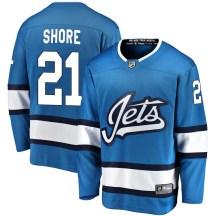 Winnipeg Jets Men's Nick Shore Fanatics Branded Breakaway Blue Alternate Jersey