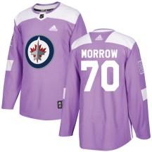 Winnipeg Jets Youth Joe Morrow Adidas Authentic Purple Fights Cancer Practice Jersey