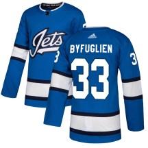 Winnipeg Jets Men's Dustin Byfuglien Adidas Authentic Blue Alternate Jersey