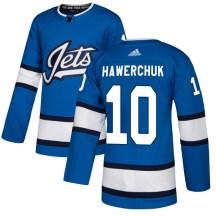 Winnipeg Jets Men's Dale Hawerchuk Adidas Authentic Blue Alternate Jersey