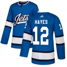 Winnipeg Jets Men's Kevin Hayes Adidas Authentic Blue Alternate Jersey