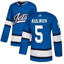 Winnipeg Jets Men's Dmitry Kulikov Adidas Authentic Blue Alternate Jersey
