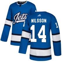Winnipeg Jets Men's Ulf Nilsson Adidas Authentic Blue Alternate Jersey