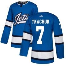 Winnipeg Jets Men's Keith Tkachuk Adidas Authentic Blue Alternate Jersey