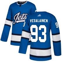 Winnipeg Jets Men's Kristian Vesalainen Adidas Authentic Blue Alternate Jersey