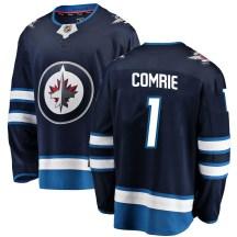 Winnipeg Jets Men's Eric Comrie Fanatics Branded Breakaway Blue Home Jersey