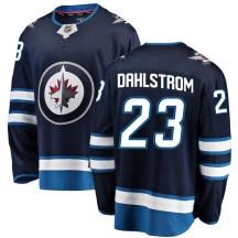 Winnipeg Jets Men's Carl Dahlstrom Fanatics Branded Breakaway Blue Home Jersey