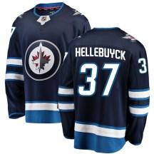 Winnipeg Jets Men's Connor Hellebuyck Fanatics Branded Breakaway Blue Home Jersey