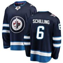 Winnipeg Jets Men's Cameron Schilling Fanatics Branded Breakaway Blue Home Jersey