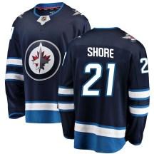 Winnipeg Jets Men's Nick Shore Fanatics Branded Breakaway Blue Home Jersey
