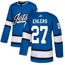 Winnipeg Jets Youth Nikolaj Ehlers Adidas Authentic Blue Alternate Jersey