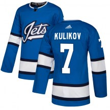 Winnipeg Jets Youth Dmitry Kulikov Adidas Authentic Blue Alternate Jersey