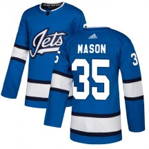 Winnipeg Jets Youth Steve Mason Adidas Authentic Blue Alternate Jersey