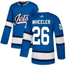 Winnipeg Jets Youth Blake Wheeler Adidas Authentic Blue Alternate Jersey