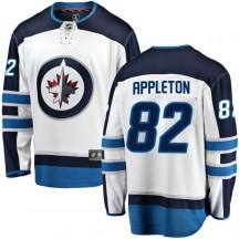Winnipeg Jets Youth Mason Appleton Fanatics Branded Breakaway White Away Jersey