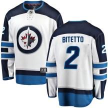 Winnipeg Jets Youth Anthony Bitetto Fanatics Branded Breakaway White Away Jersey