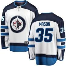 Winnipeg Jets Youth Steve Mason Fanatics Branded Breakaway White Away Jersey