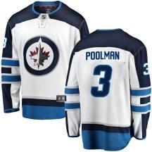 Winnipeg Jets Youth Tucker Poolman Fanatics Branded Breakaway White Away Jersey