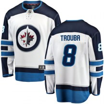 Winnipeg Jets Youth Jacob Trouba Fanatics Branded Breakaway White Away Jersey