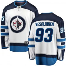 Winnipeg Jets Youth Kristian Vesalainen Fanatics Branded Breakaway White Away Jersey