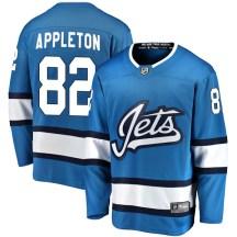 Winnipeg Jets Youth Mason Appleton Fanatics Branded Breakaway Blue Alternate Jersey